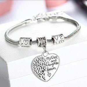 NWT Silver Mother Daughter Bracelet